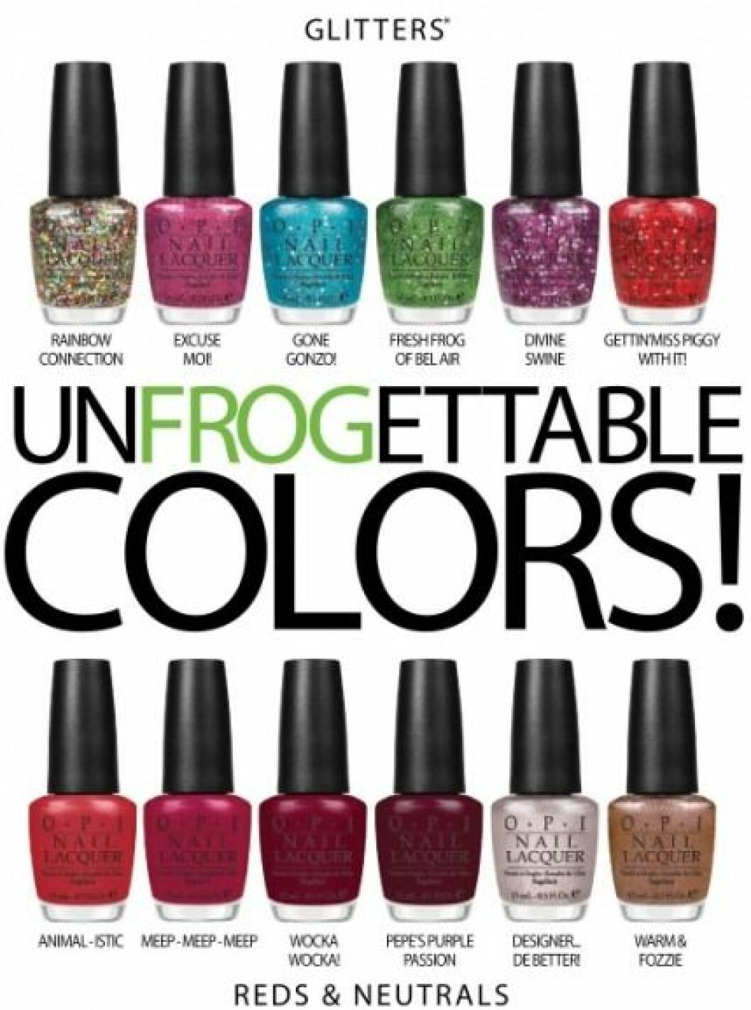 Unfrogettable colors från OPI och The Muppets.