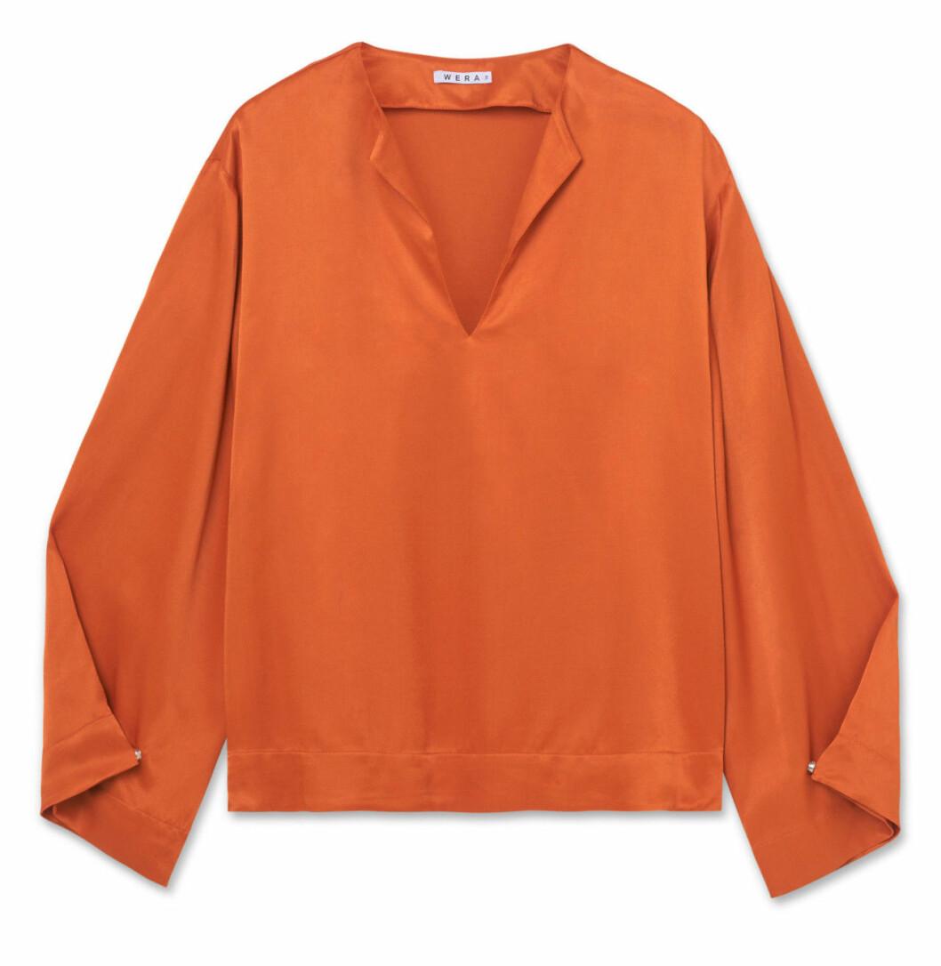 Orange blus till hösten