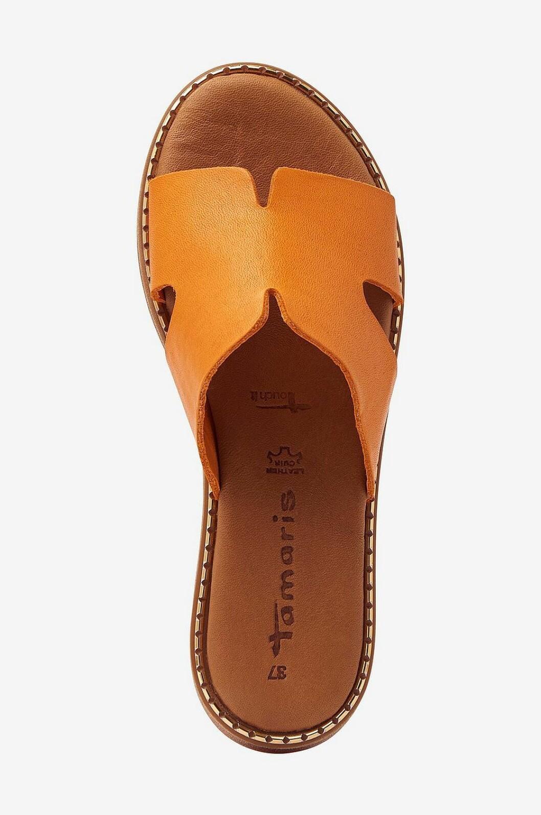 Orange sandaler för dam till sommaren 2020
