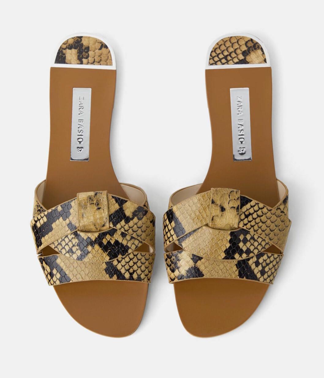 Ormskinnsmönstrade sandaler billiga för dam till 2019