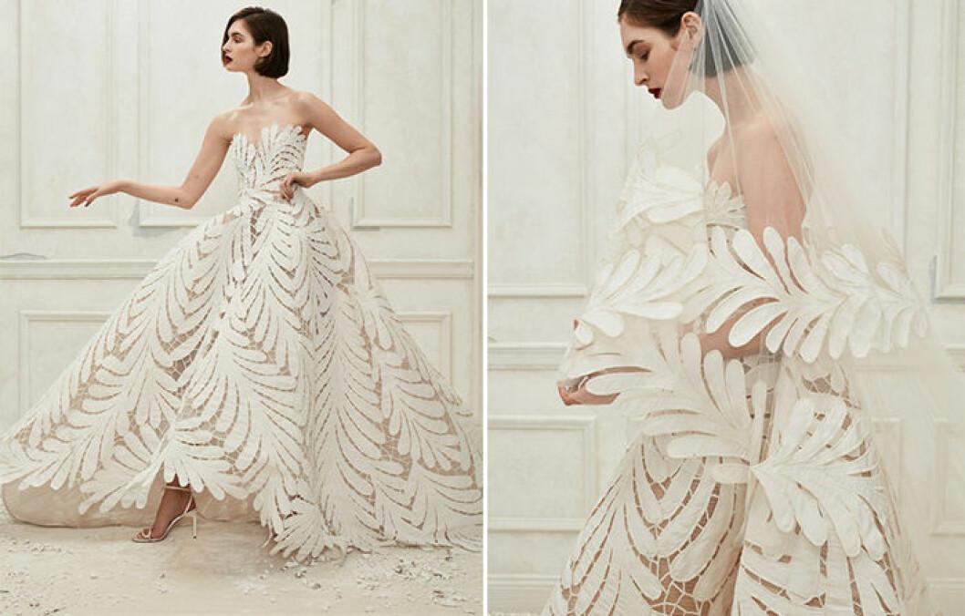 Första looken i Oscar de la Rentas senaste bröllopskollektion