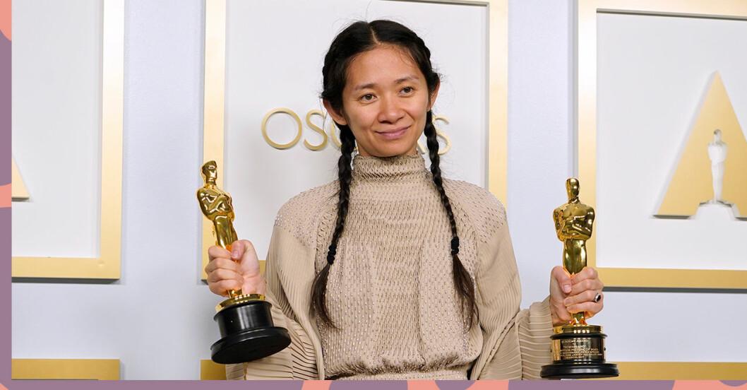 Chloé Zhao vann en Oscar för bästa regi med Nomadland – skriver historia