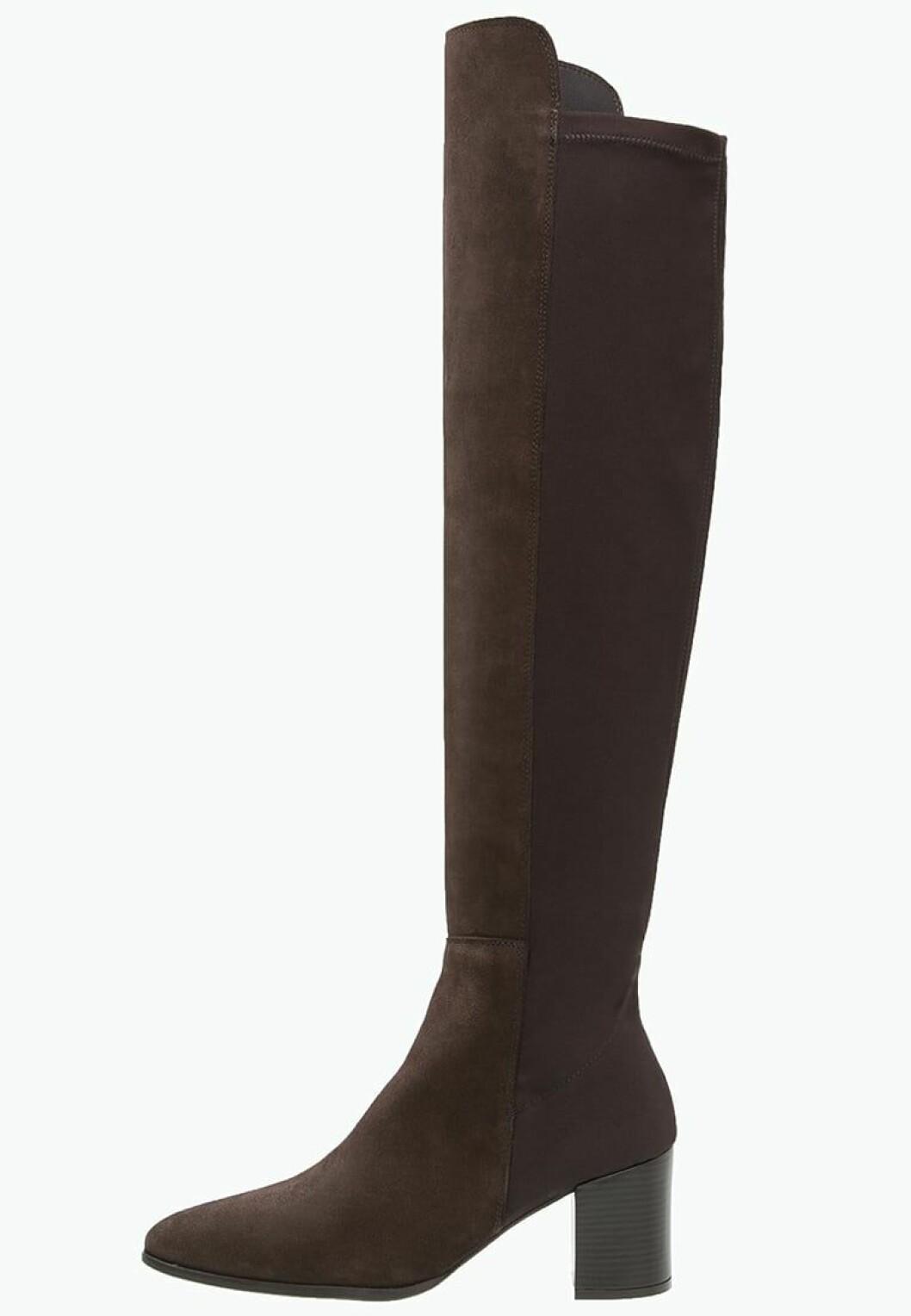 overknee morkbruna stovlar