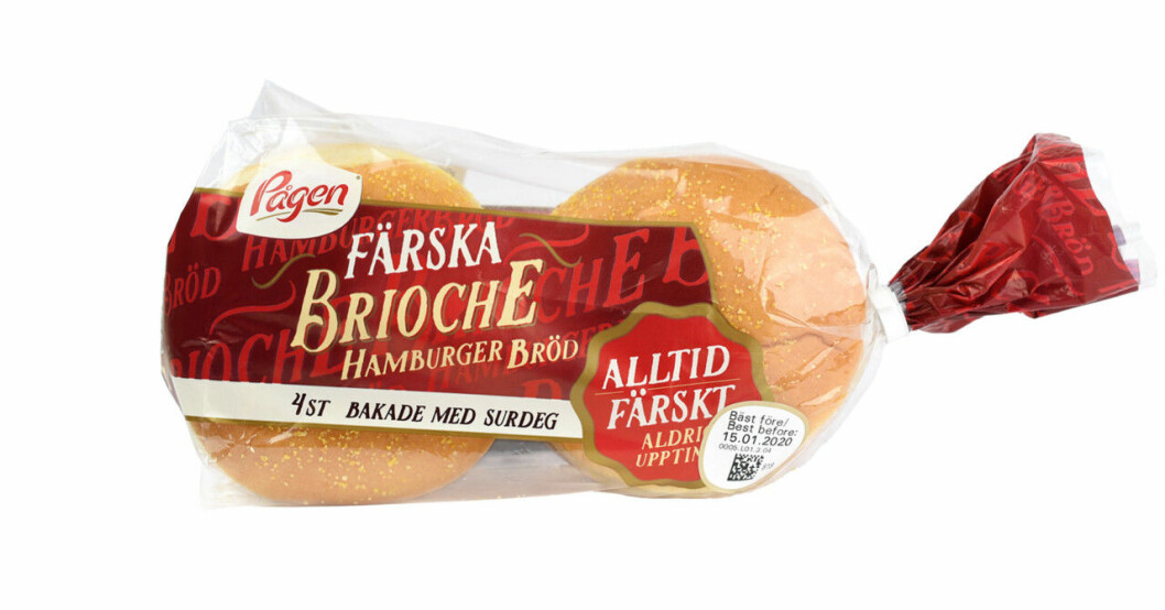 Pågen brioche hamburgerbröd