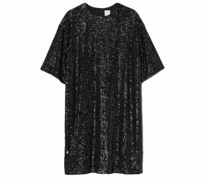 Paljettbroderad klänning från H&M