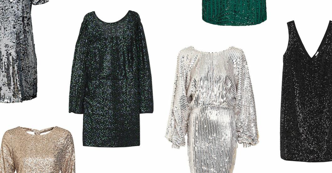 Paljettklänningar för dam till nyårsafton 2019