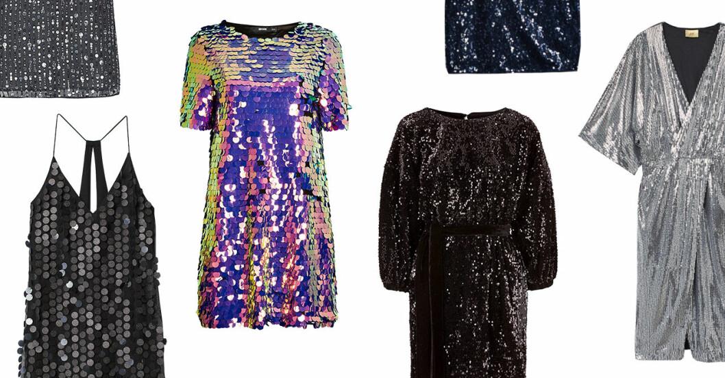 Paljettklänningar till nyårsafton