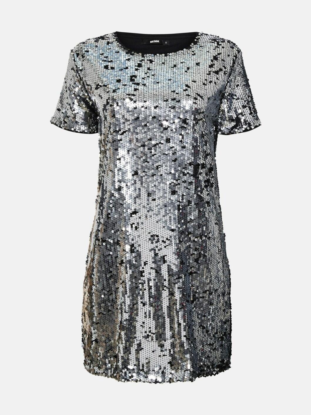 Paljettklänning med kort ärm för dam till nyårsfesten 2019