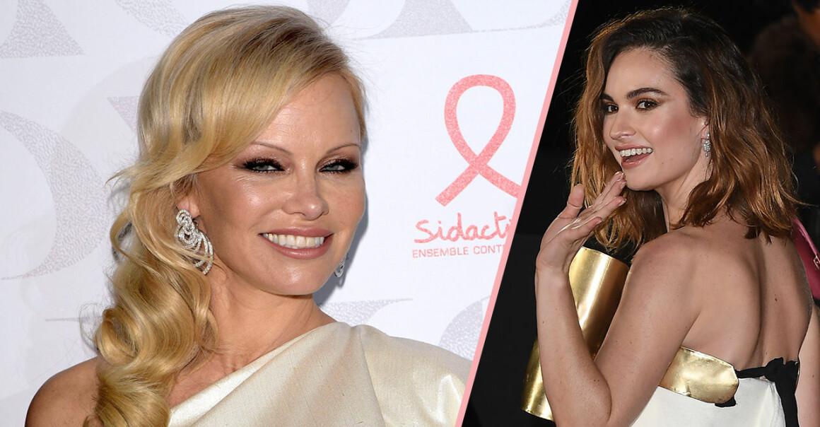 Pamela Anderson och Lily James