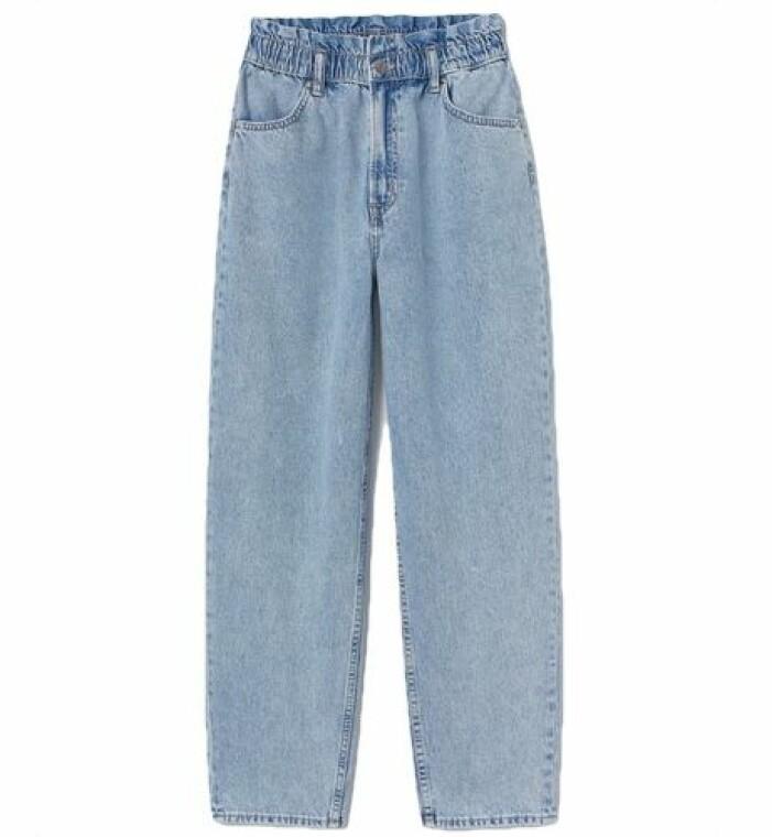 Jeans med smal midja och stora lår från H&M