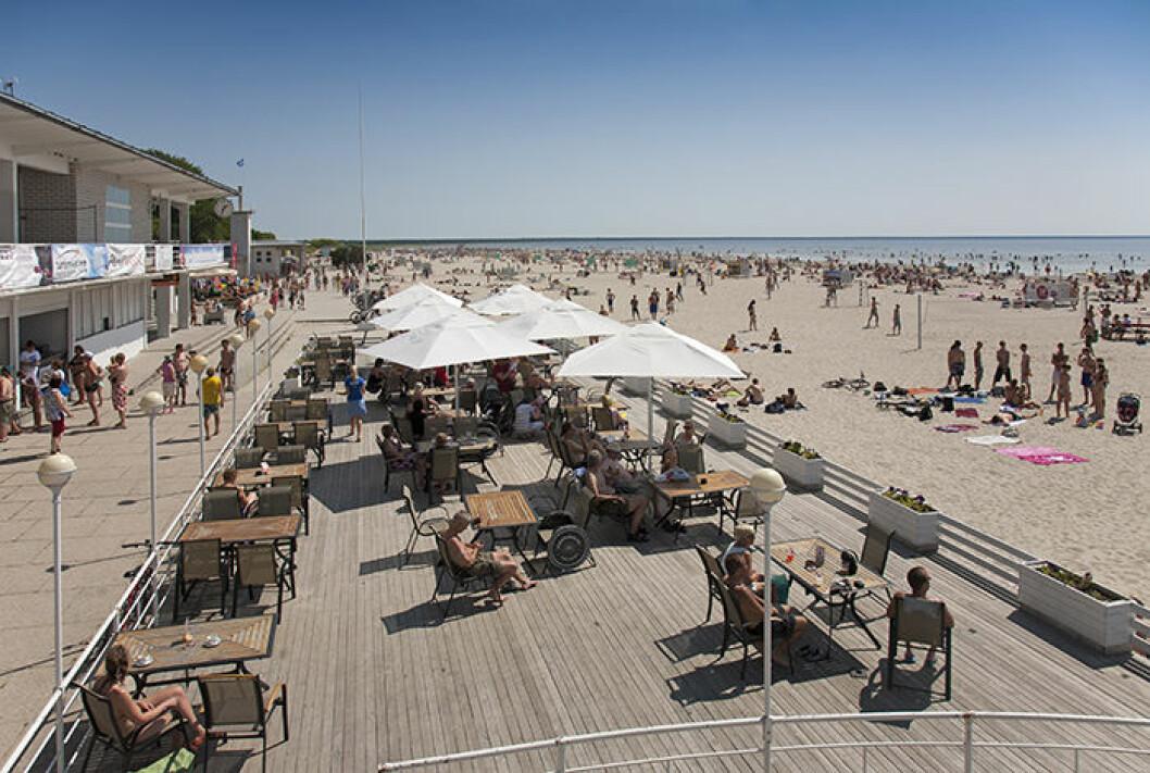 Pärnu beach i Estland