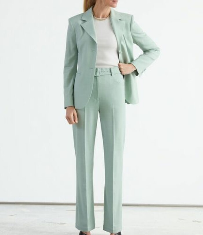 Mintgrön kostym dam från & Other Stories