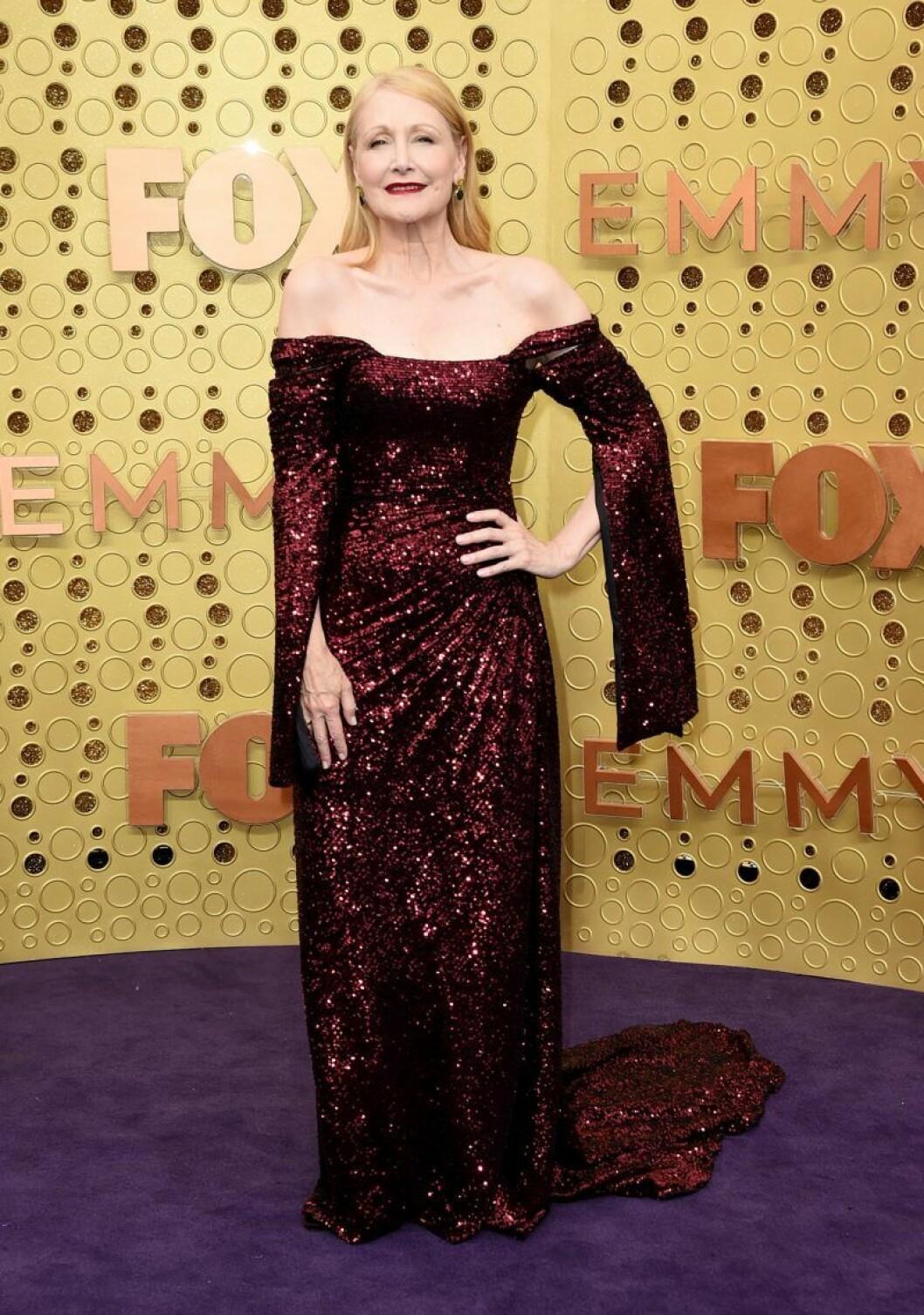 Patricia Clarkson på röda mattan på Emmy Awards 2019