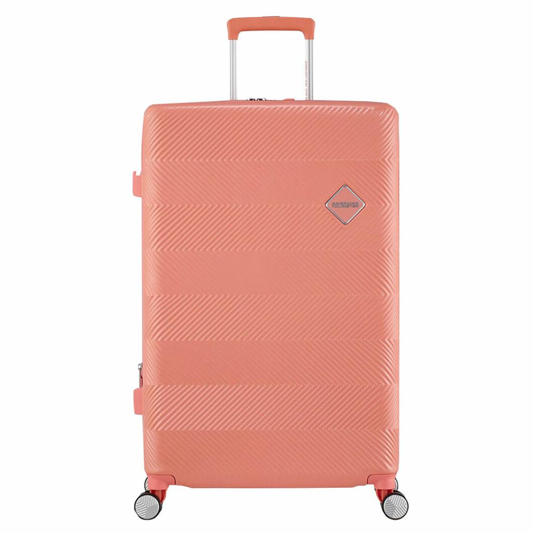 Resväska i rosa nyans