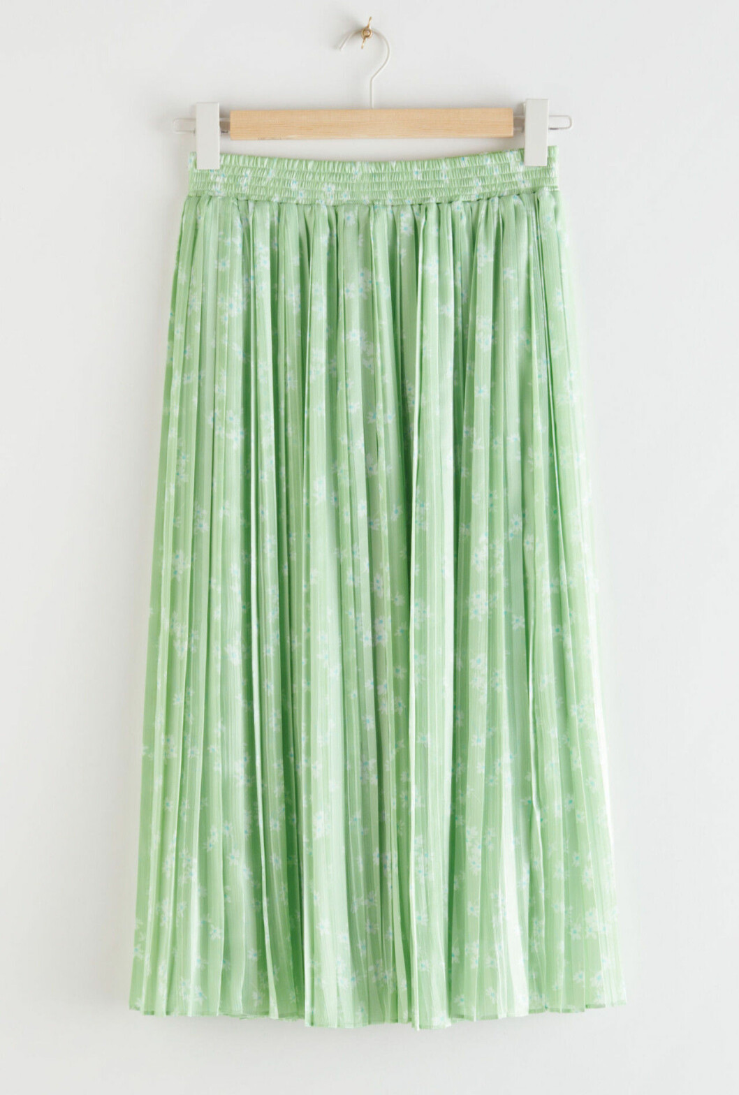 Grön plisserad kjol för dam till våren och sommaren 2020