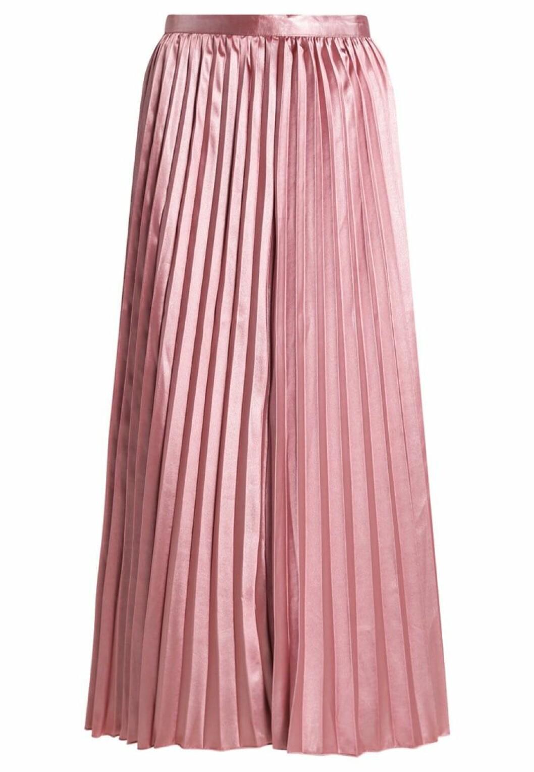 plisserad kjol rosa