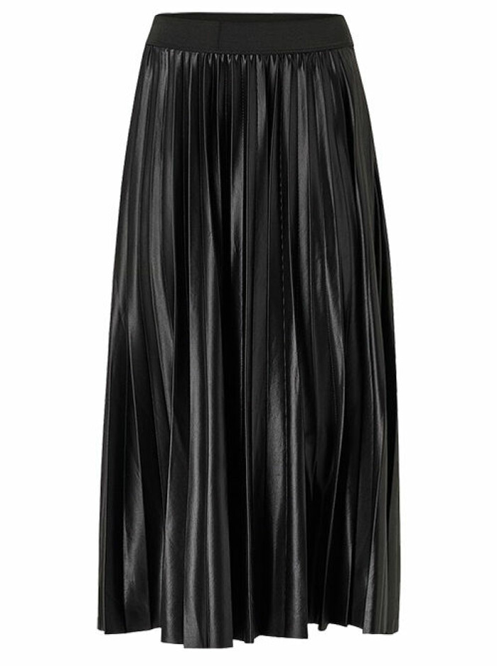 plisserad kjol svart