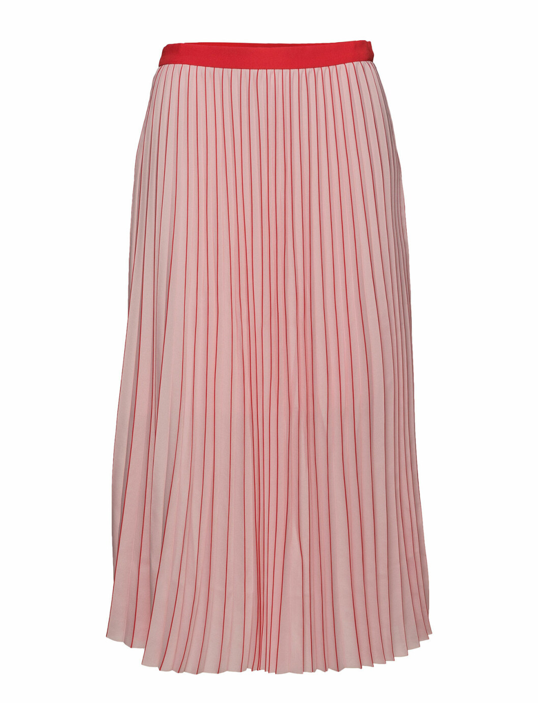 Rosa plisserad kjol