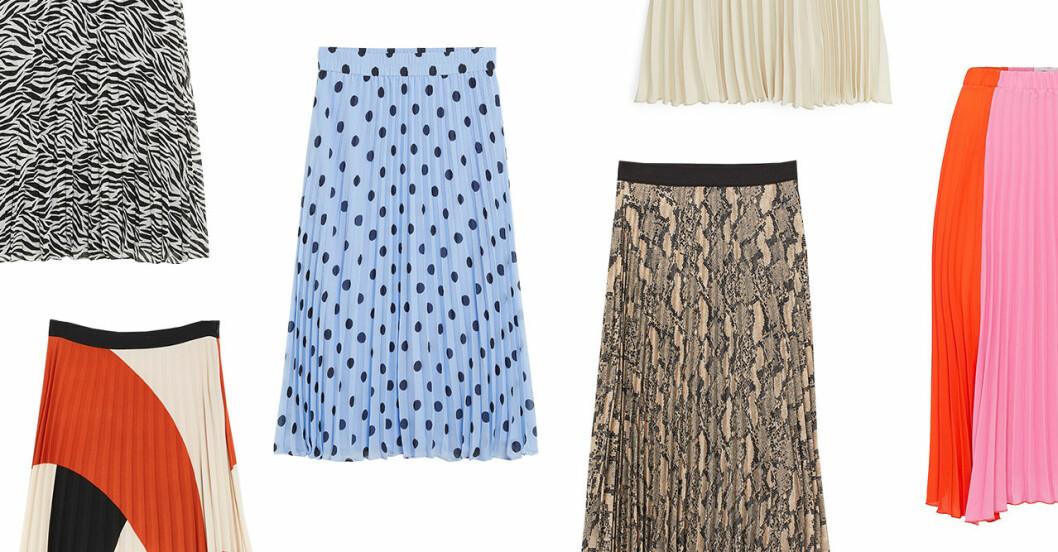 Plisserade kjolar till våren och sommaren 2019