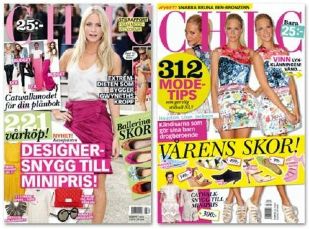 Poppy Delevingne på omslaget av Baaam nr 8-2011 och 7-2012.