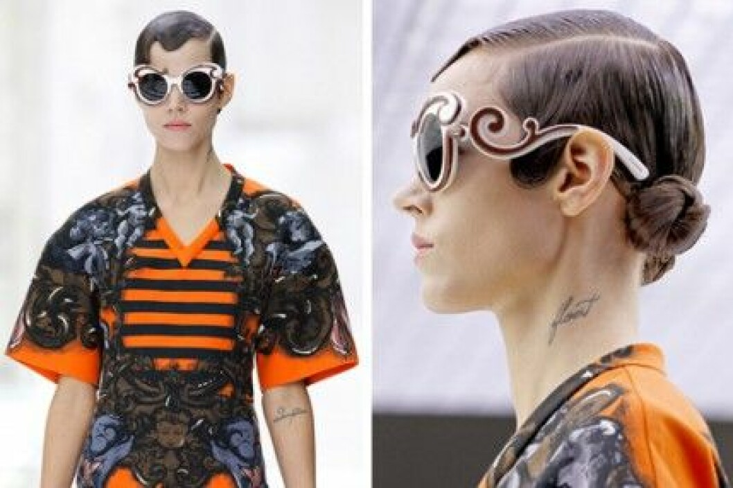 Prada Minimal Baroque eyewear collection, S/S 2011.