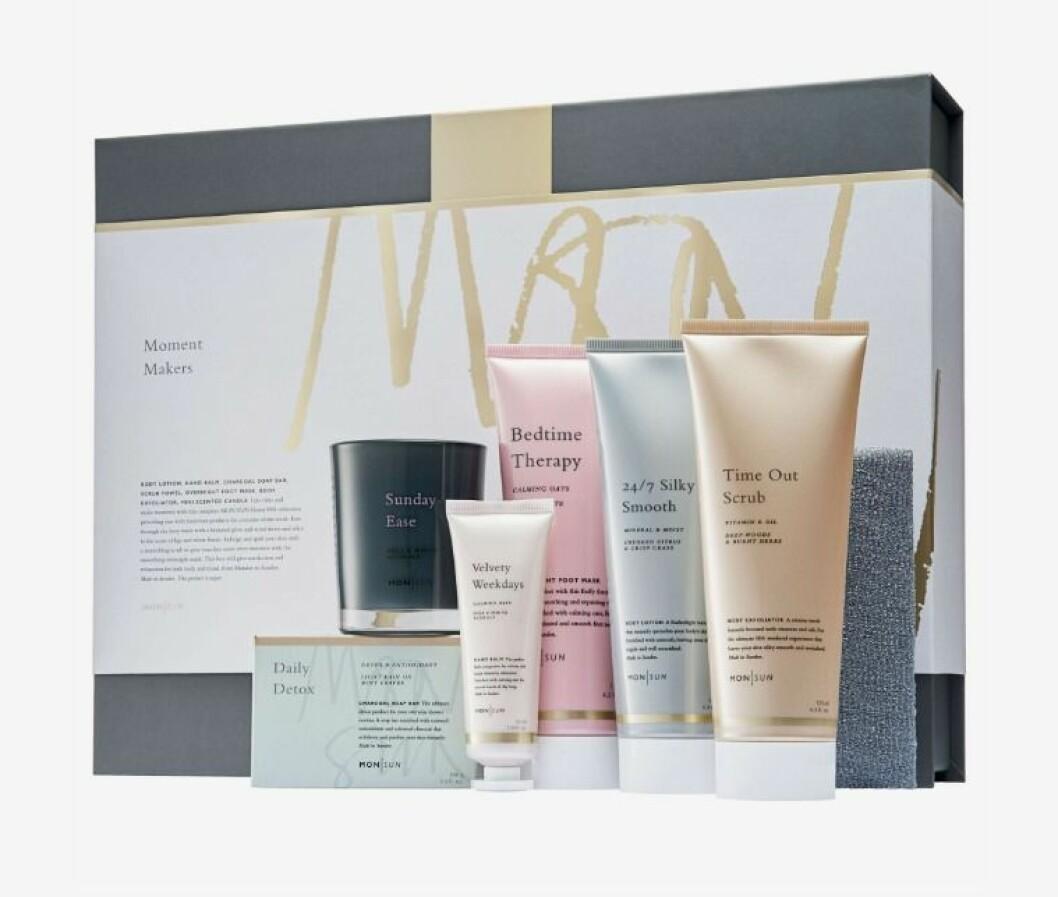 Presentbox med hudvårdsprodukter från mon sun