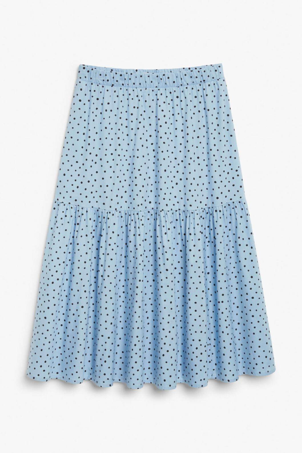 Prickig kjol i blått för dam till 2020