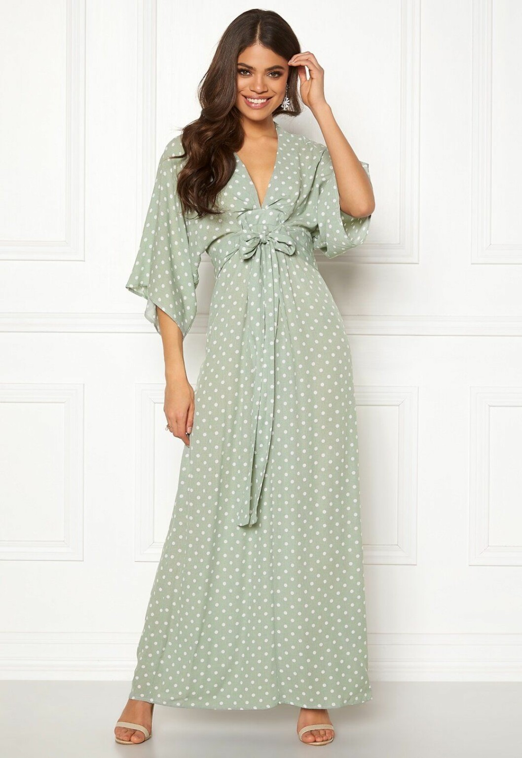 Mintgrön klänning till bröllop för dam 2019