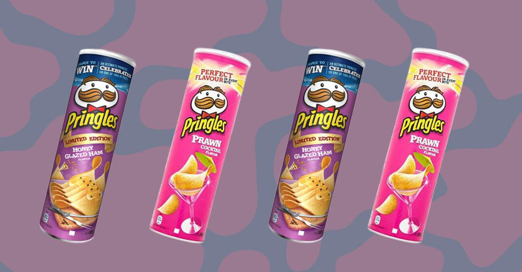 pringles chips med smak av räkcocktail och julskinka
