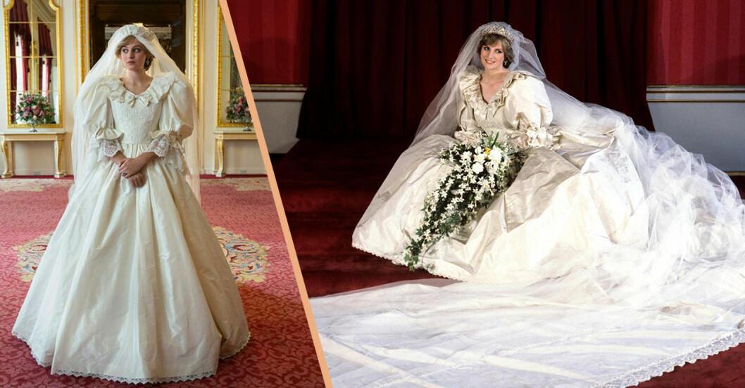 Diana i bröllopsklänning