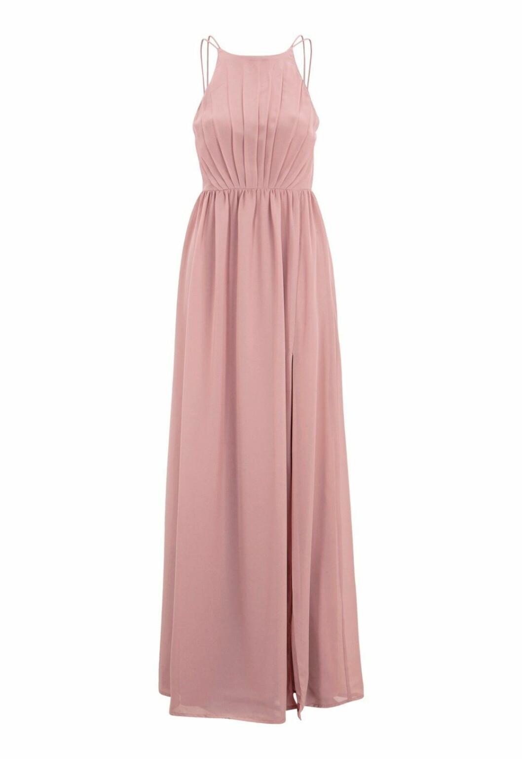 Puderrosa klänning till bröllop för dam till 2019