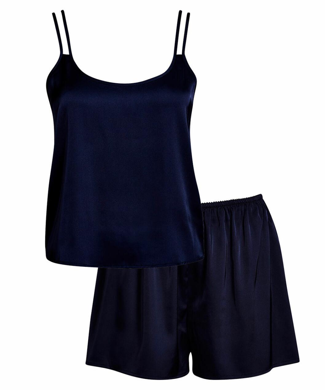 Blå pyjamas linne och shorts