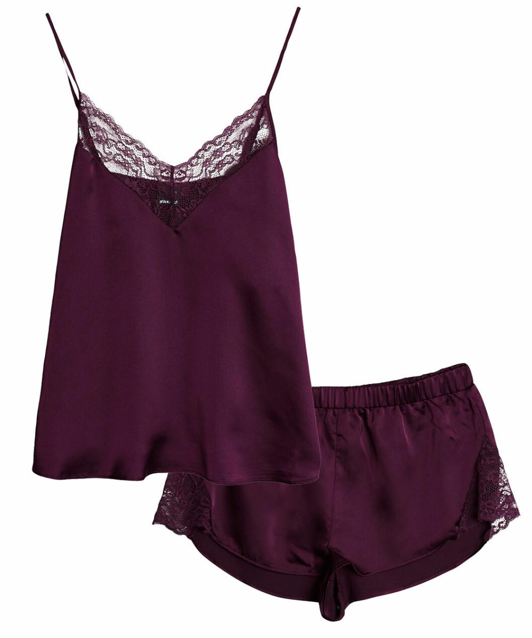 Lila pyjamas linne och shorts