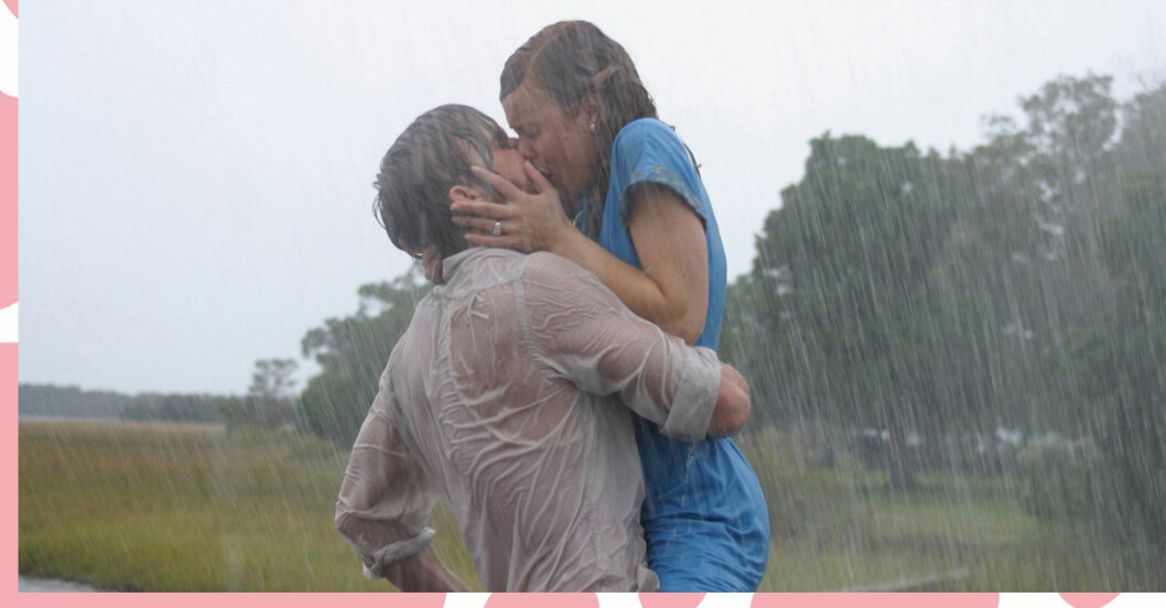 Noah och Allie kyss