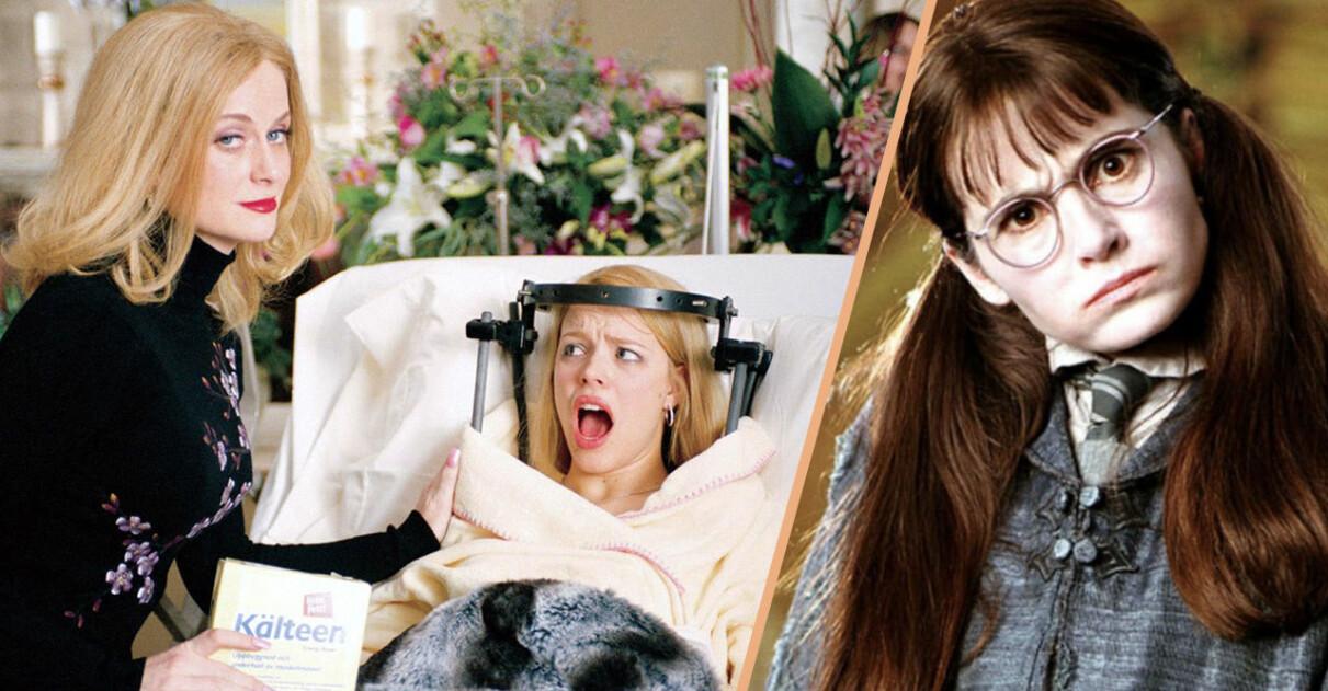Skådespelare med skev åldersskillnad i Mean girls och Harry Potter