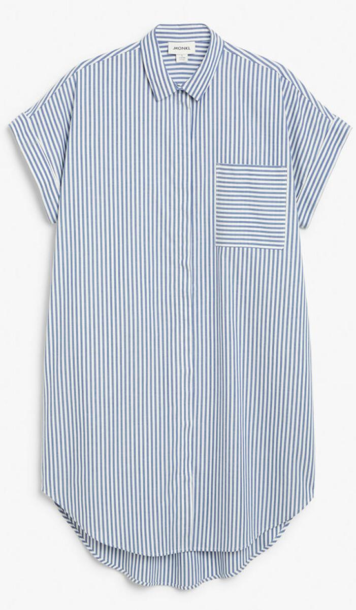 Randig skjortklänning