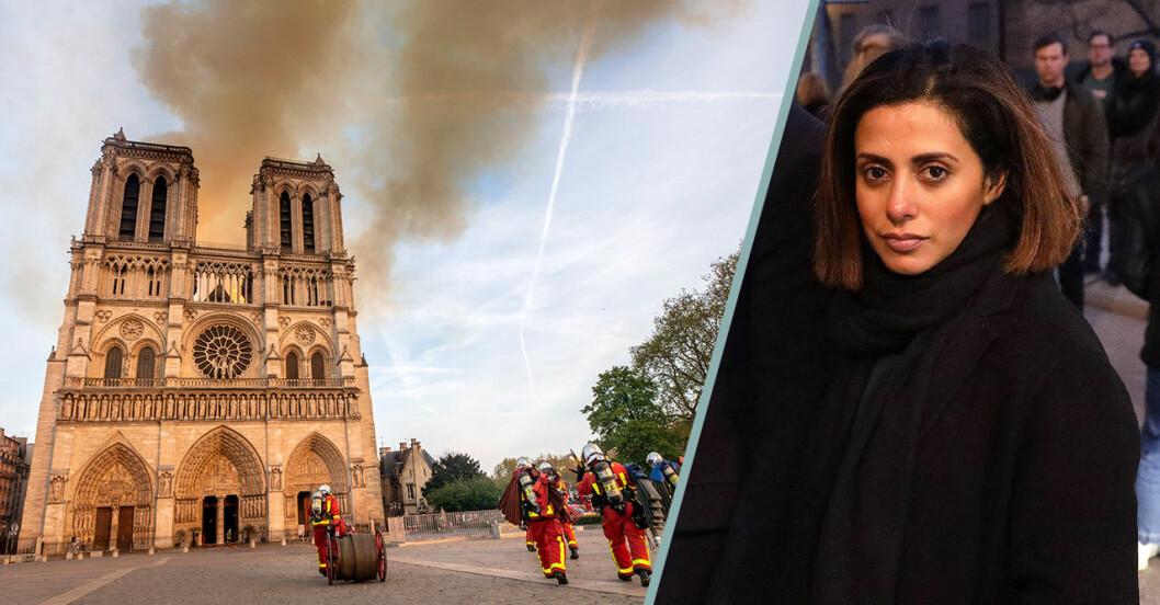 Reaktioner på branden i Notre-Dame.