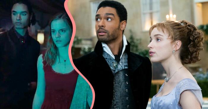 Regé-Jean Page i Harry Potter och i Familjen Bridgerton.