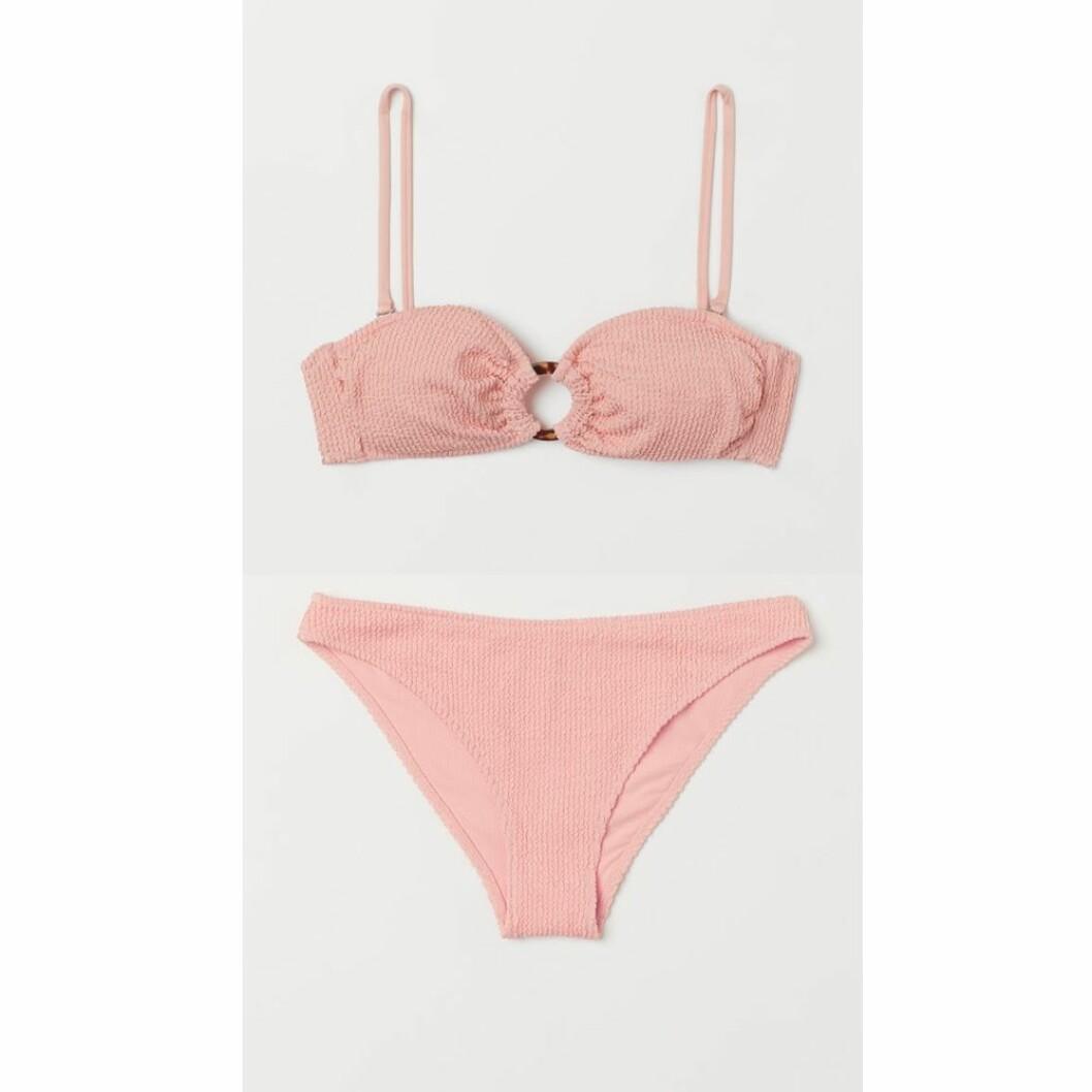 Rosa ribbad bikini