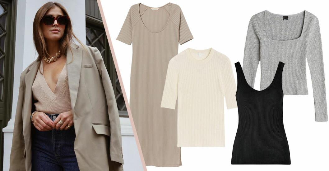 Ribbstickade linnen, tröjor och klänningar för dam till 2020