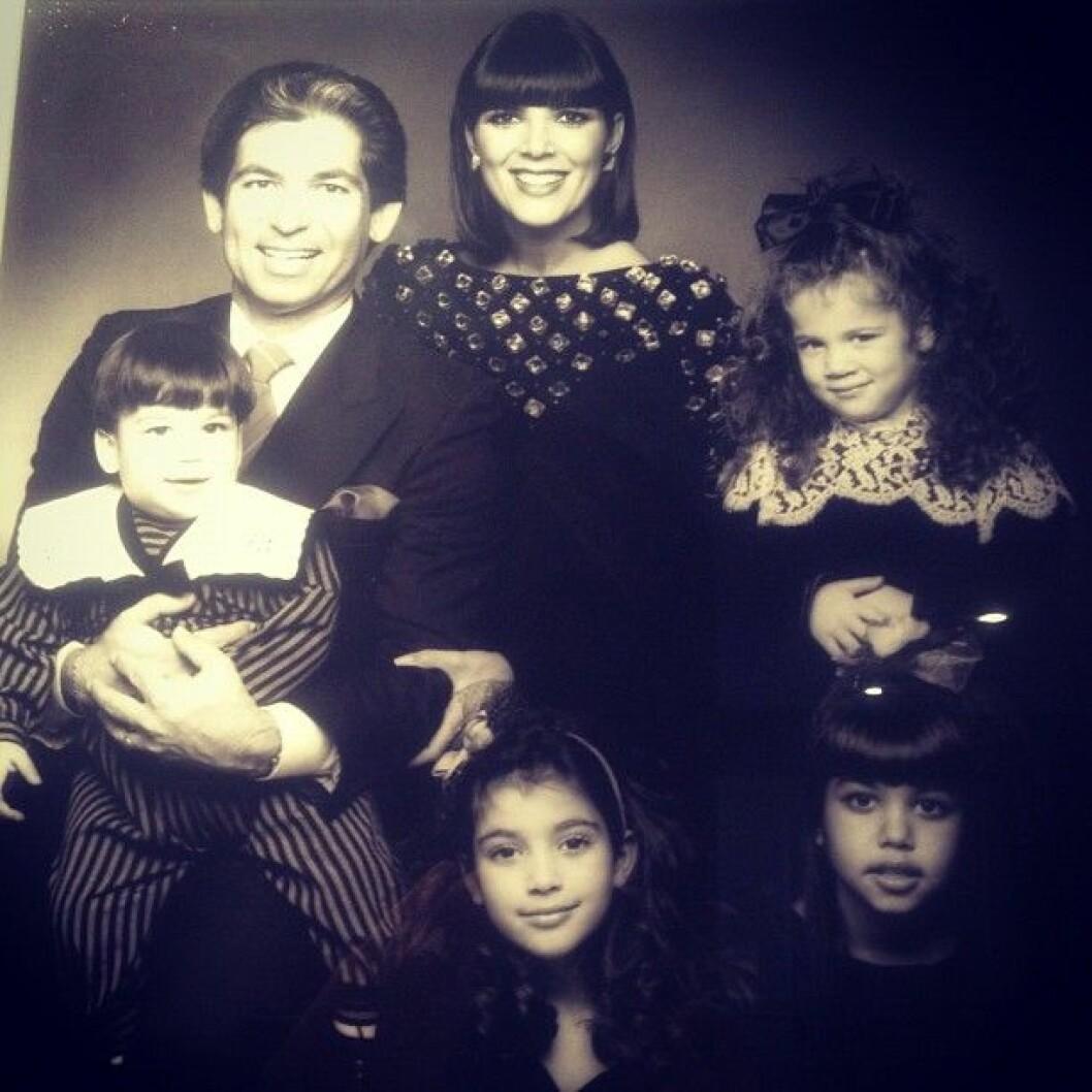 Robert Kardashian med familj