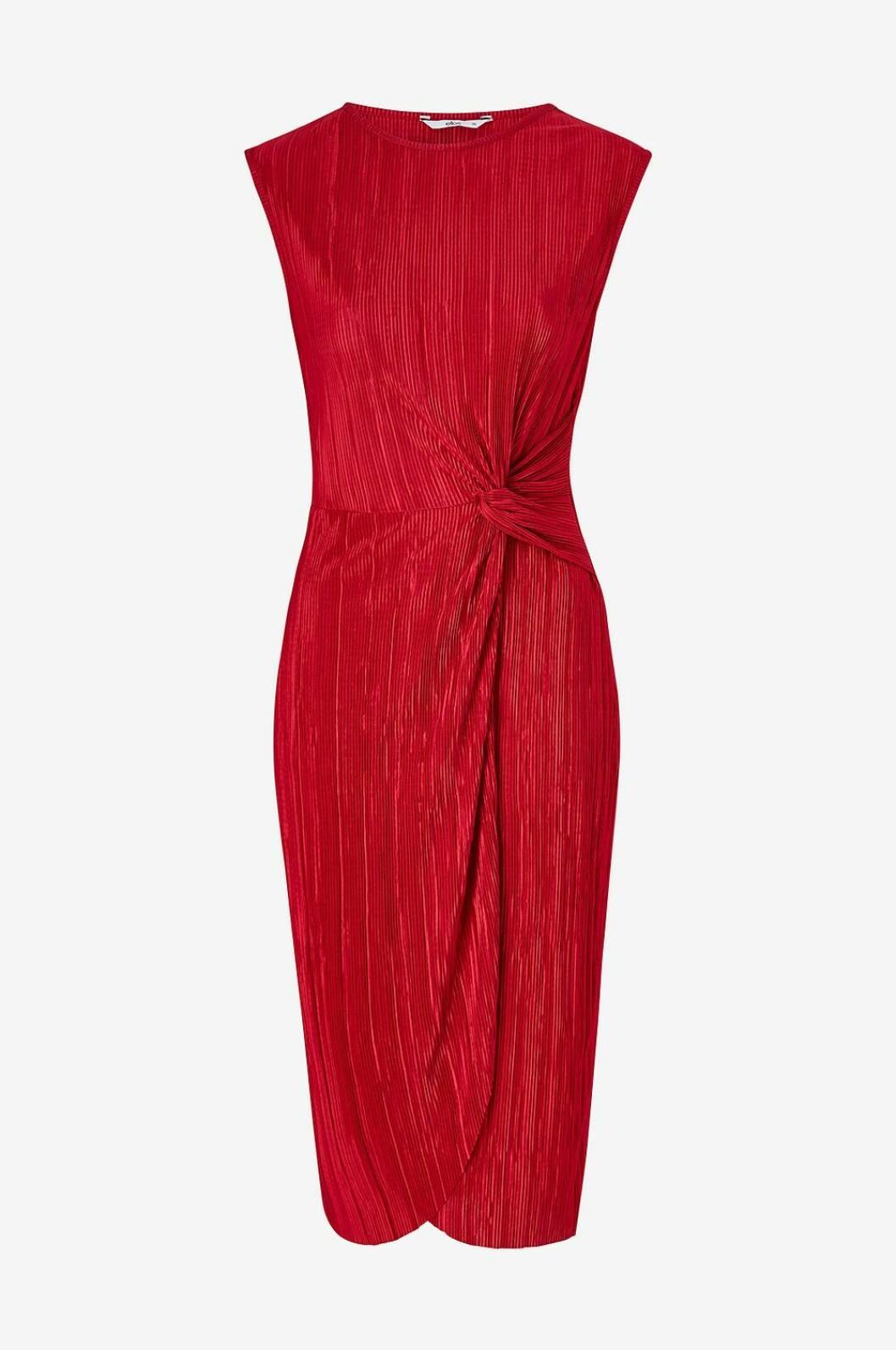 Röd ärmlös klänning för dam till 2019
