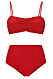 Röd bikini för dam till 2019