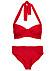 Röd bikini till vinterresan