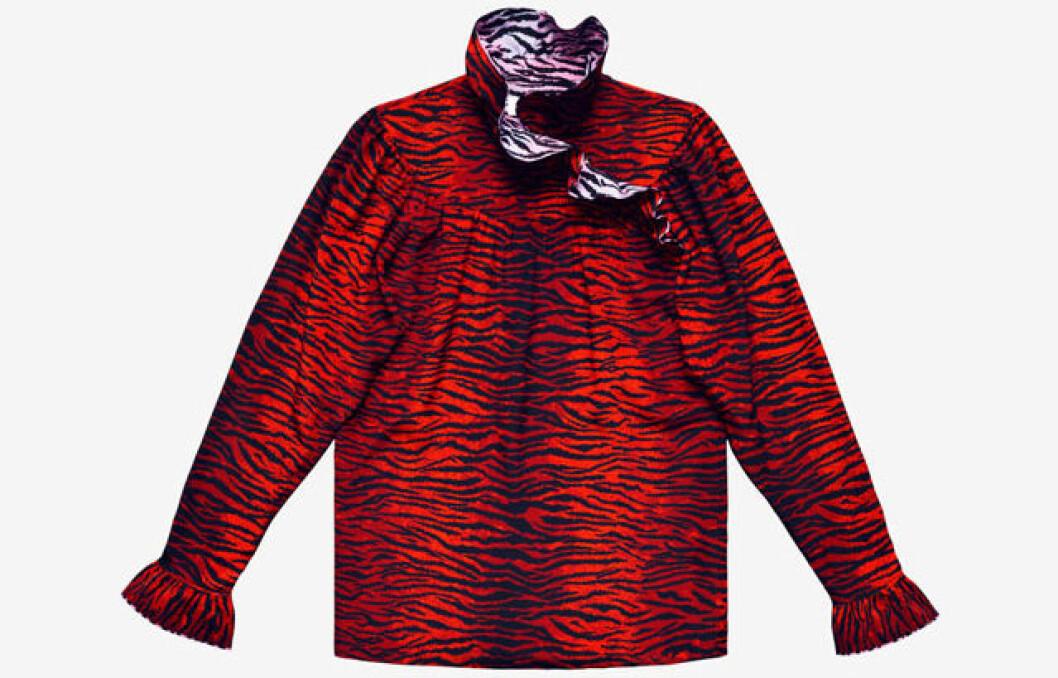 röd blus zebra kenzo hm