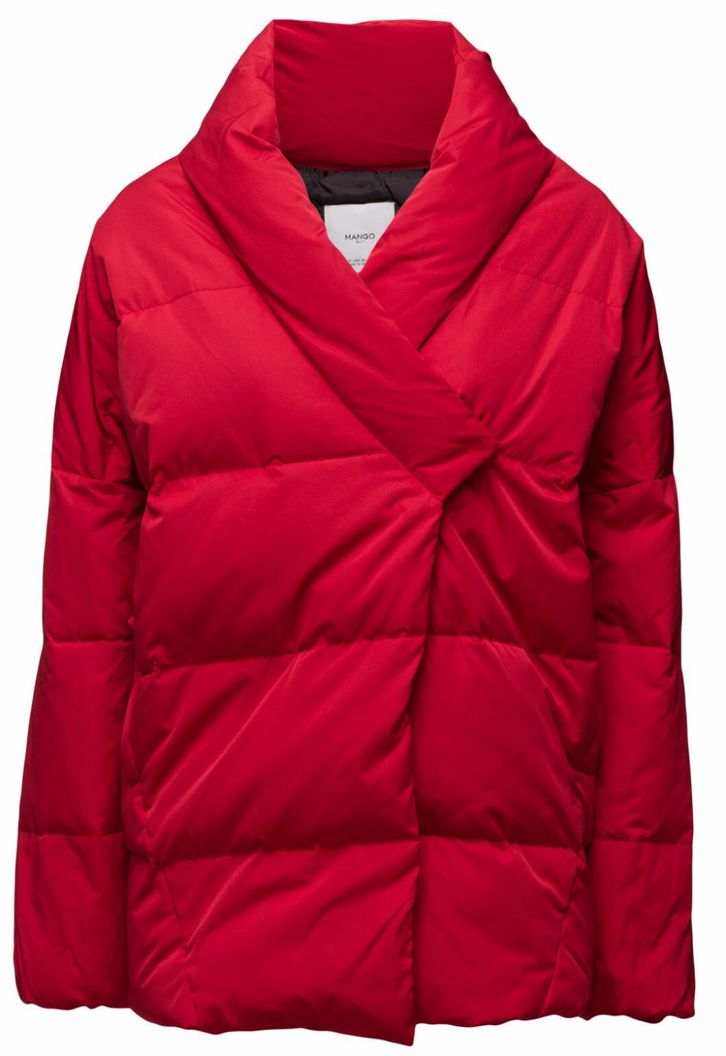röd dunjacka vinter 2016