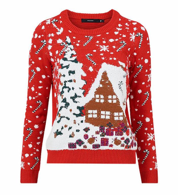 röd jultröja från vero moda