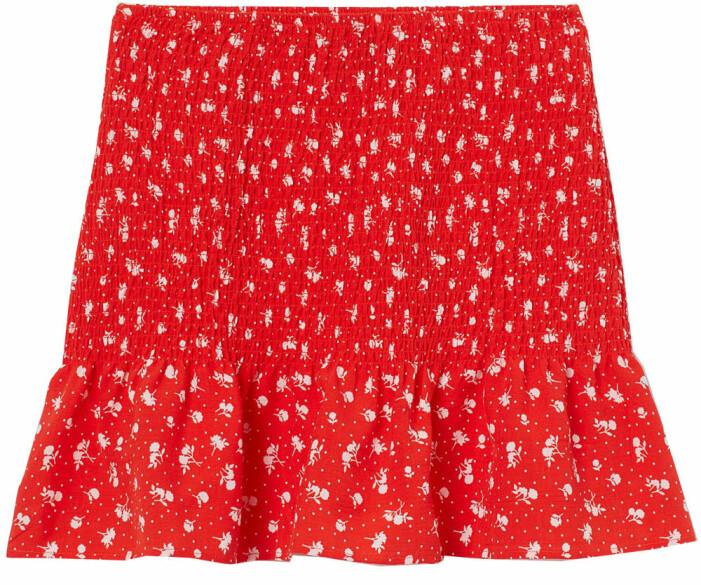 röd mönstrad kjol från H&M