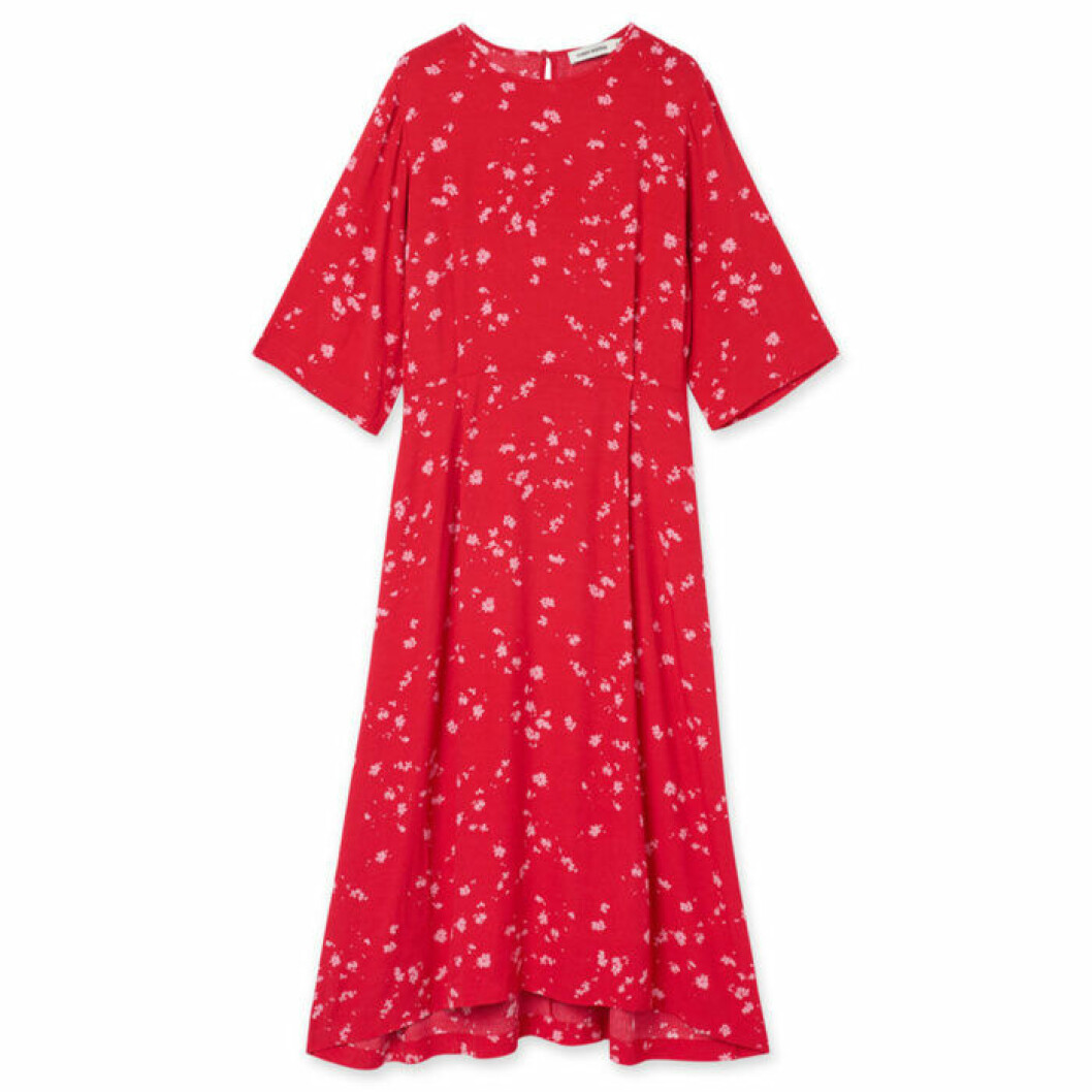 Röd klänning från Carin Wester