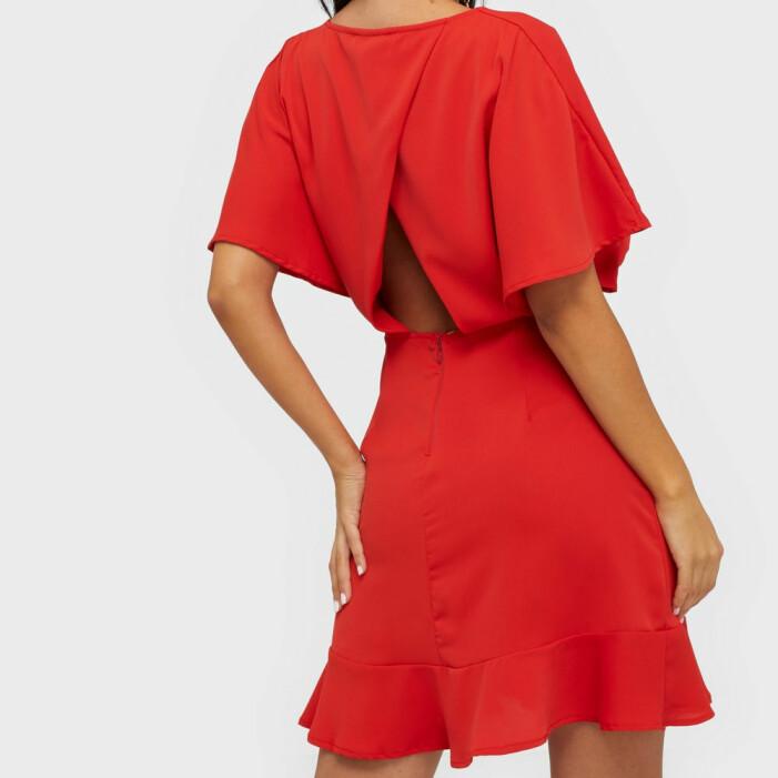 Röd klänning med öppen rygg från Ax Paris